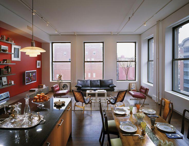 Просторные апартаменты в помещении бывшей студии художника Барнетта Ньюмана