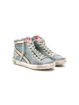 'Slide' hi-top sneakers
