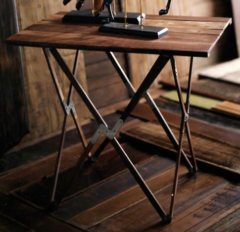 Vintage Wooden Folding Camp Table, Looks Like Something From A  Victorian Era Camping Trip!