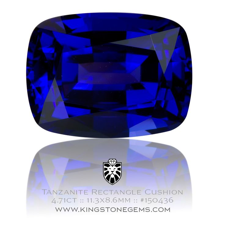 Tanzanian Blue Tanzanite Cushion - 4.71ct - 11.3X8.6X6.01mm - SKU# 150436 - Visit our website to discover more incredible natural tanzanite gemstones.