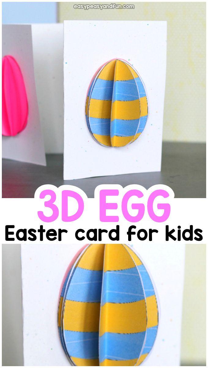3d Easter Egg Card Egg Card Diy Easter Cards Easter Cards