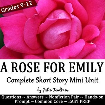 "the use of symbolism in the short story a rose for emily by william faulkner Short story and william faulkner essay  in this short story, ""a rose for emily,"" william faulkner tells emily life story from the ending to  use of."