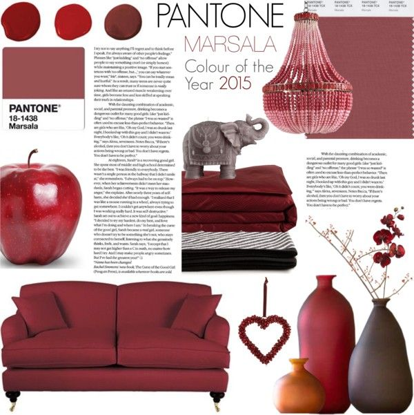 """""""Pantone Colour of the Year 2015 - Marsala : Home Decor"""" by rachaelselina on Polyvore"""