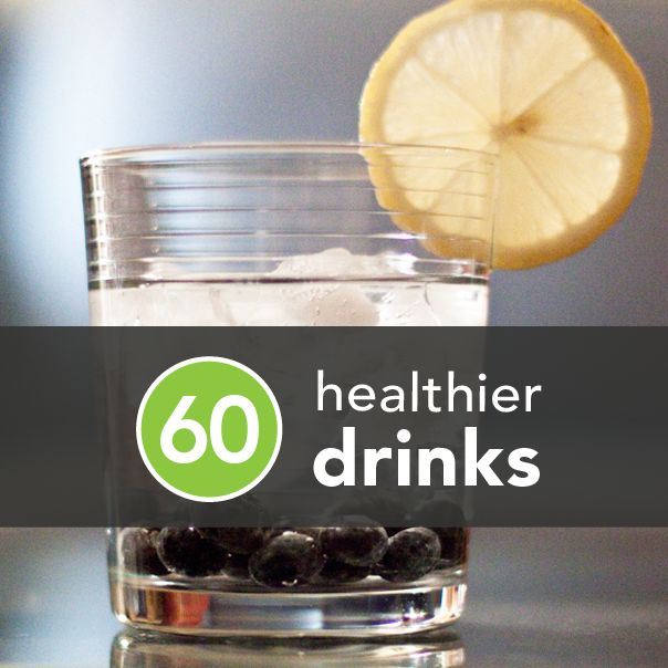 "60 Healthier Drinks for Boozing.  Helpful to avoid ""wasting"" that workout."