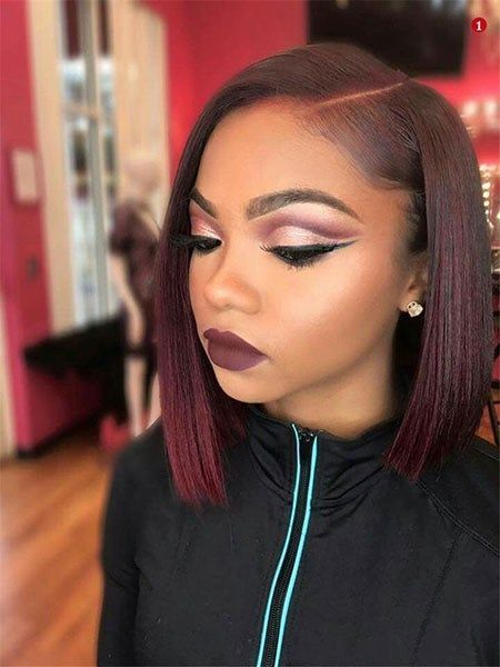 Human Brazilian Virgin Hair 13*4/13*6 Lace Frontal Red Bob Wig 150% Density The Same As The Hairstyle In The Picture