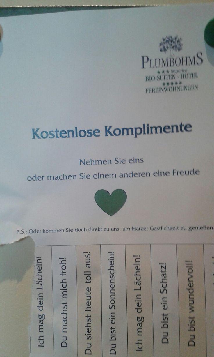 #Komplimente #Harz nette Idee - kopierenswert