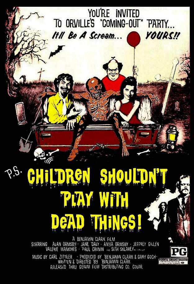 Children Shouldn't Play With Dead Things (1973) | 19 Awful(ly Funny) Horror Movie Titles
