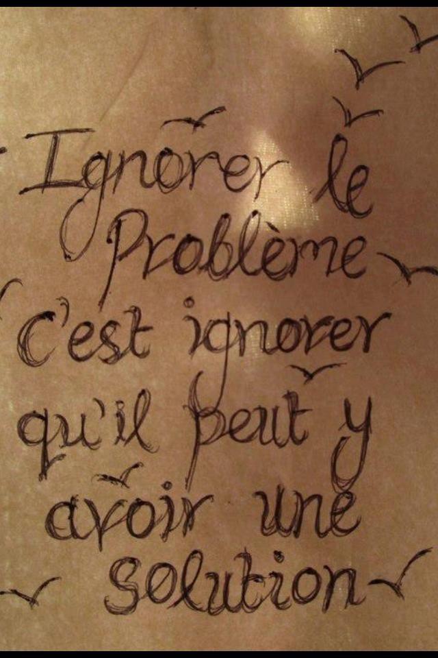 Ignorer le problème