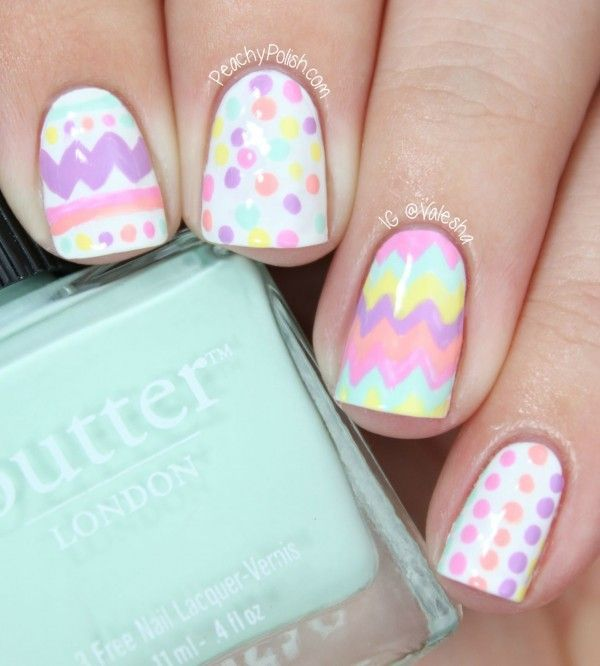 Easter Egg Nail Art by Peachy Polish