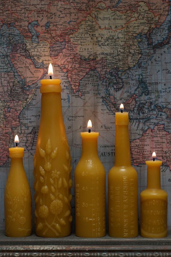 Beeswax Candle Collection  Five Course Meal  Gourmet by pollenArts, $65.00