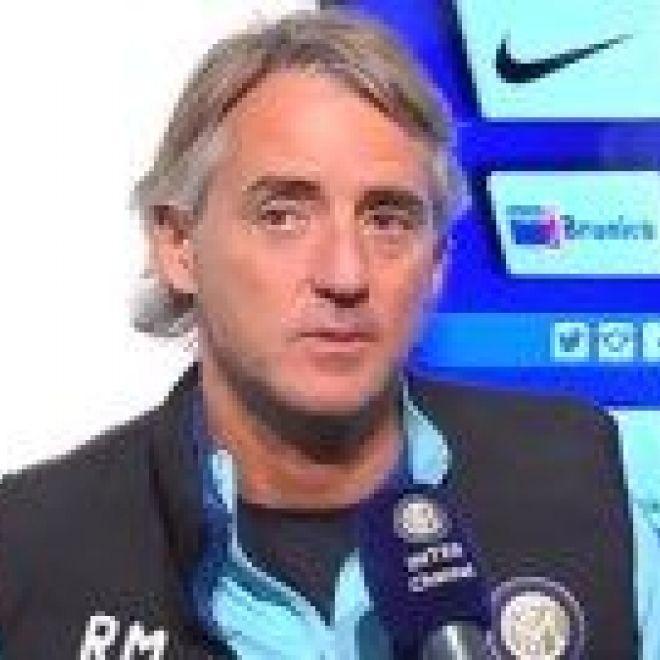 """Mancini: """"Buona gara stiamo lavorando per..."""" Il tecnico dell'Inter Roberto Mancini  ha commentato la partita terminata da poco tra i nerazzurri ed il Psg. L' amichevole disputata durante il ritiro a Doha è terminata sul risultato di 1-0 per la società francese."""