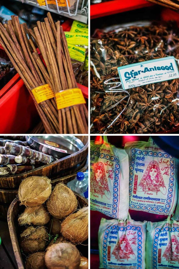 Cassia, star anise, coconuts and rice at Fiji Market | heneedsfood.com