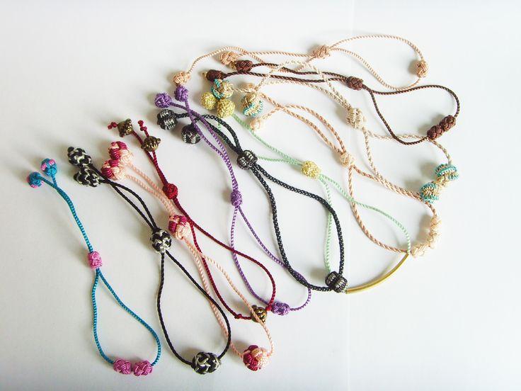 Bracelets Fins Réglables en fil et perles. : Bracelet par crea-mania
