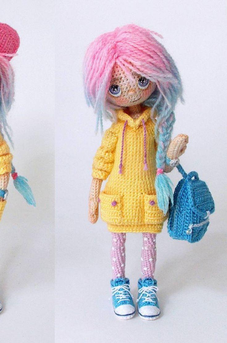 Doll amigurumi cute - FREE Amigurumi Pattern | Crochet dolls free ... | 1106x735