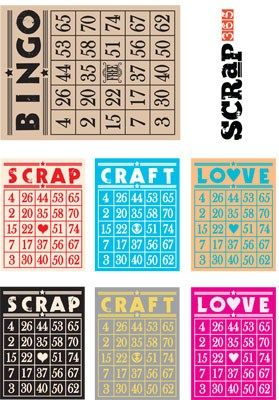 Free Crafty Bingo Card Printable from Scrap 365