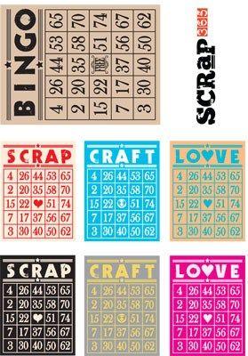 Free Crafty Bingo Card Printable from Scrap 365