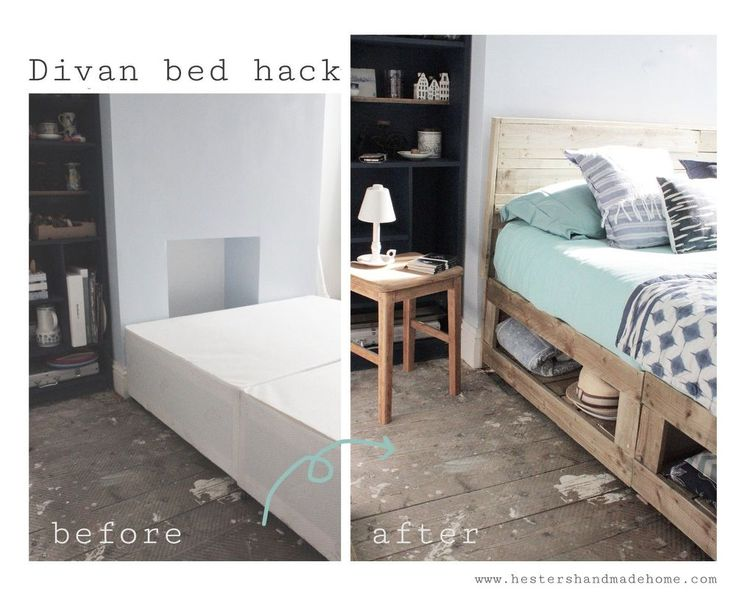 Divan beds are super cheap to buy but they are also super ugly and they don't have any storage, all that storage potential but you can't reach it!  The space un…