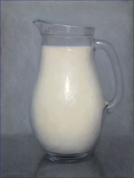 Conor Walton, 'Milk', oil on linen, 12 x 9 inches, 2012 (private collection)