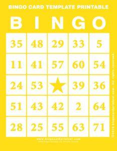 Best Bingo Card Template Printable Images On   Bingo