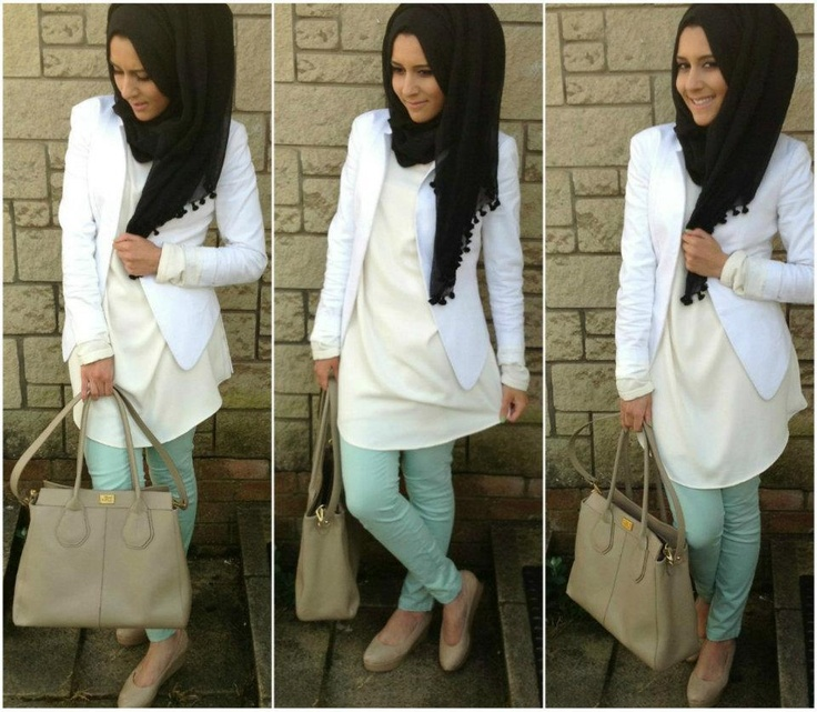 I would have chose a different color hijab, I'm just not sure what though!