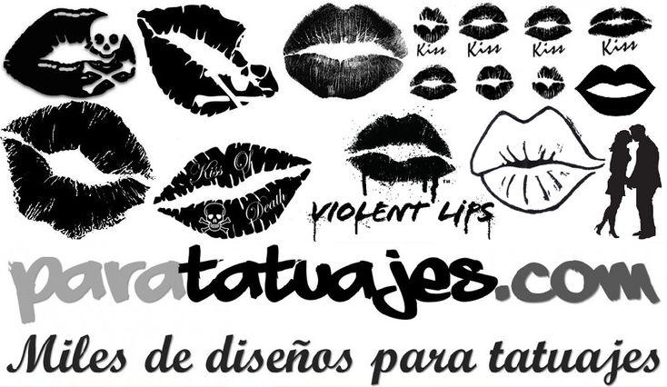 tatuajes putas beso negro