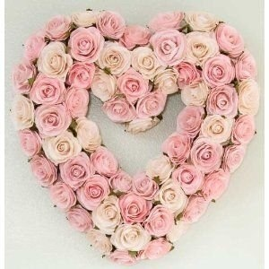 ...pink rose wreath
