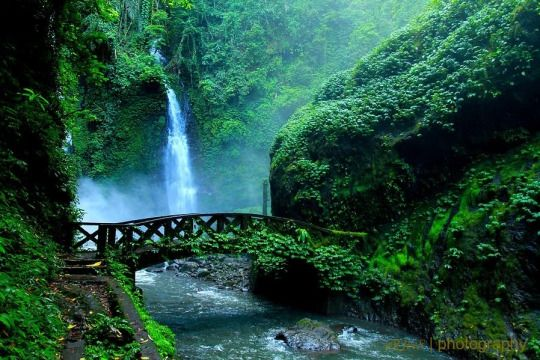 Lota Waterfall, Pineleng, Manado, North Sulawesi, Indonesia.