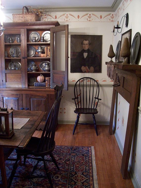 504 best images about fall on pinterest pewter for Primitive country dining room ideas