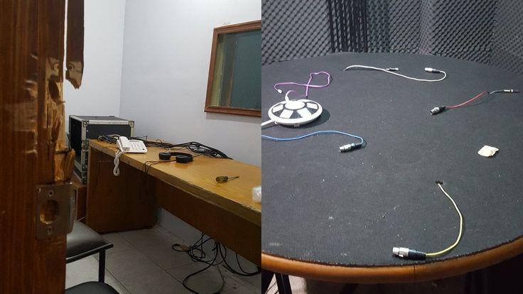 El pasado martes 7 de marzo, nos percatamos de que nuestra cabina de radio fue abierta por la fuerza. Al ingresar, lo primero que vimos fue la ausenci