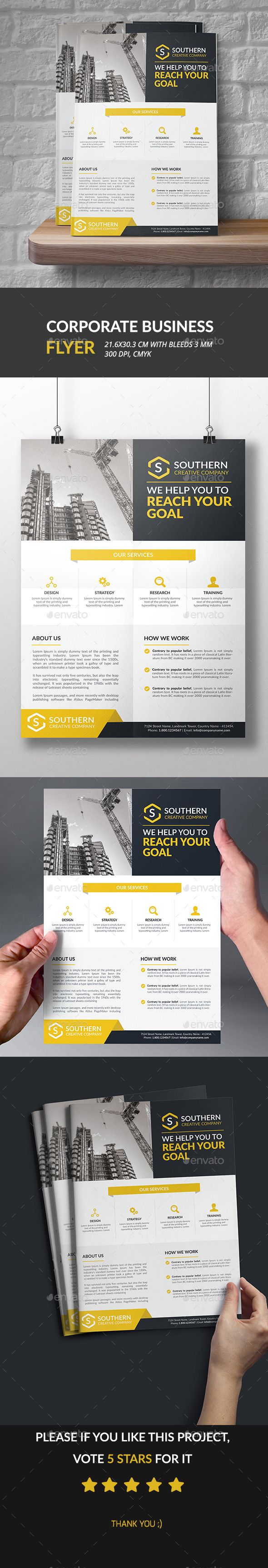 Corporate Business Flyer Template PSD #design Download: http://graphicriver.net/item/corporate-business-flyer/12913338?ref=ksioks