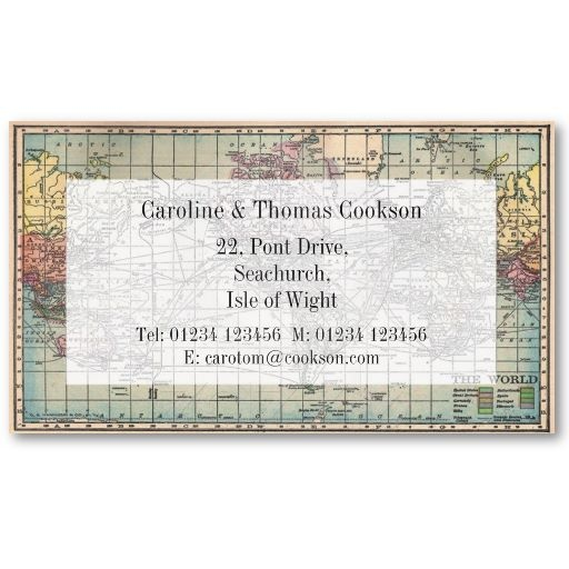 Map of the World Business Card by First Night Design