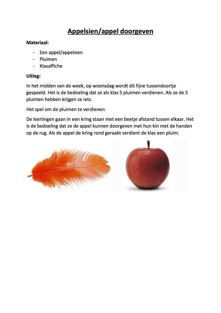 Klasbouwers - teambouwers : appelsien