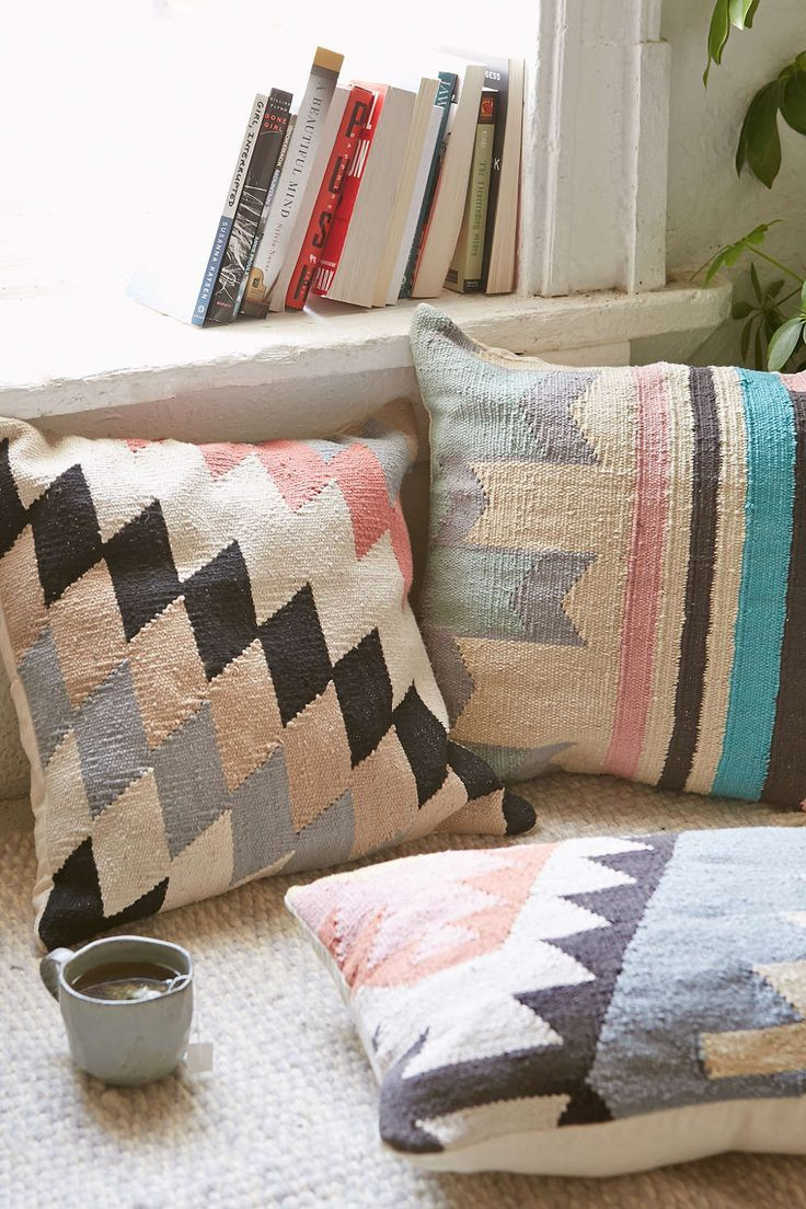 Plum & Bow Andanda Kilim Pillow - Urban Outfitters   The Lifestyle Edit