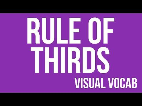 Rule of Thirds defined - From Goodbye-Art Academy - YouTube