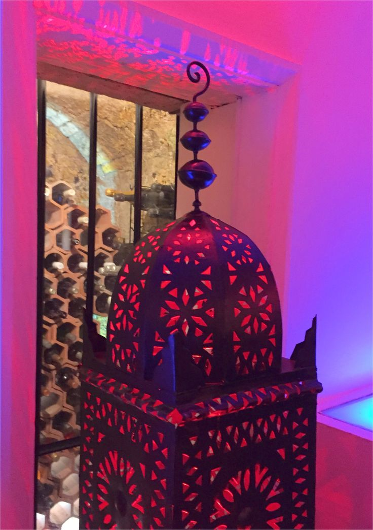 Moroccan tower lantern prop with internal light in 2020