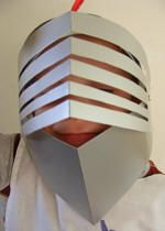 Knights Helmet With Visor For Kids To Make on St George's Day