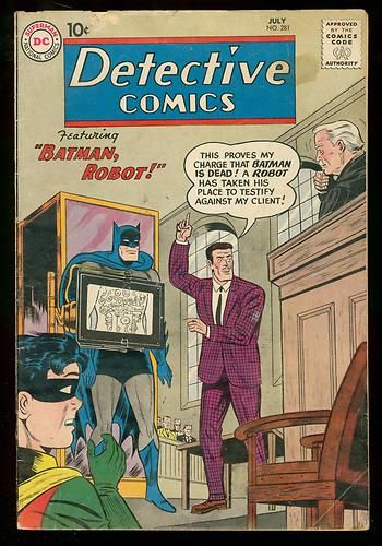 Detective Comics 281 1960 Batman Robot Manhunter Mars VG | eBay
