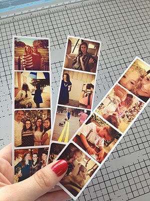 Tutorial on how to make Instagram Photo strips using Photoshop-it should work for Photoshop Elements as well.