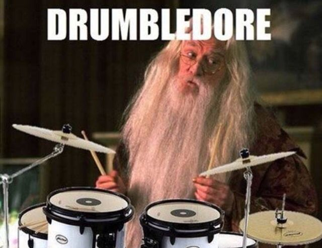 Drumbledore playing percussively