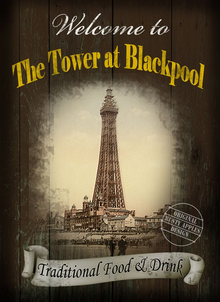 The Tower At Blackpool  English Pub Sign