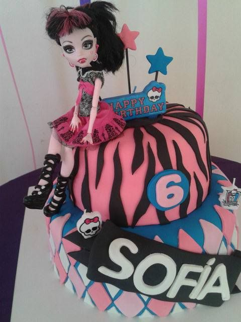 TORTA CUMPLEAÑOS MONSTERS HIGH #partytimeeventos