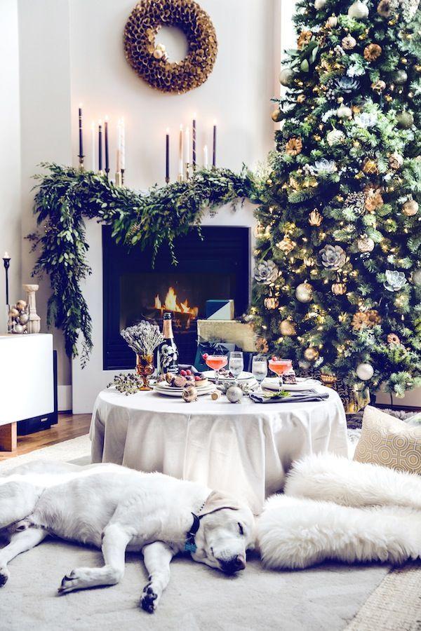 50 Weihnachtsdekor-Ideen für das Wohnzimmer