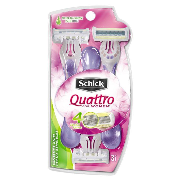 Schick Quattro For Women Sensitive Disposable Razor - 3ct