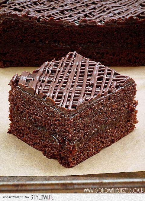 Lepki piernik z powidłami i czekoladą Składniki:     *…