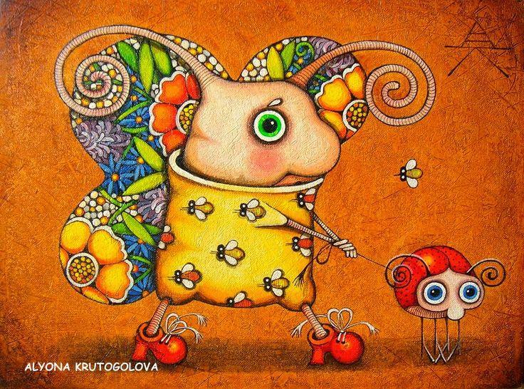 """ALYONA KRUTOGOLOVA   Krivói Rog, Ucrania      """"El rico lenguaje de la ilustración """" (1)        ALYONA KRUTOGOLOVA   Alyona  Krutogolova, nac..."""