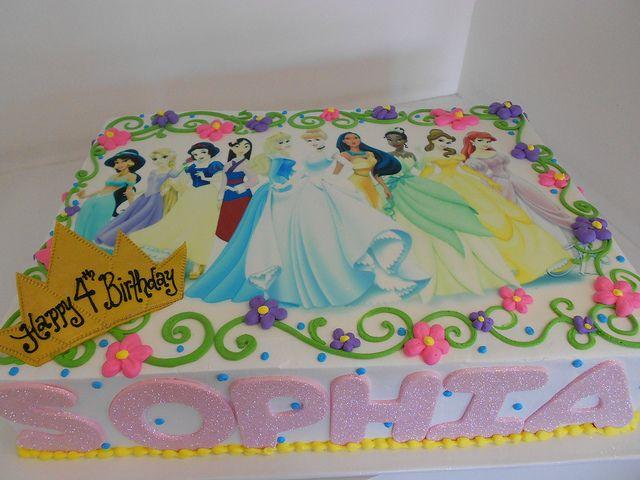 Disney Princess Sheet Cake 2052 Girls Birthdays