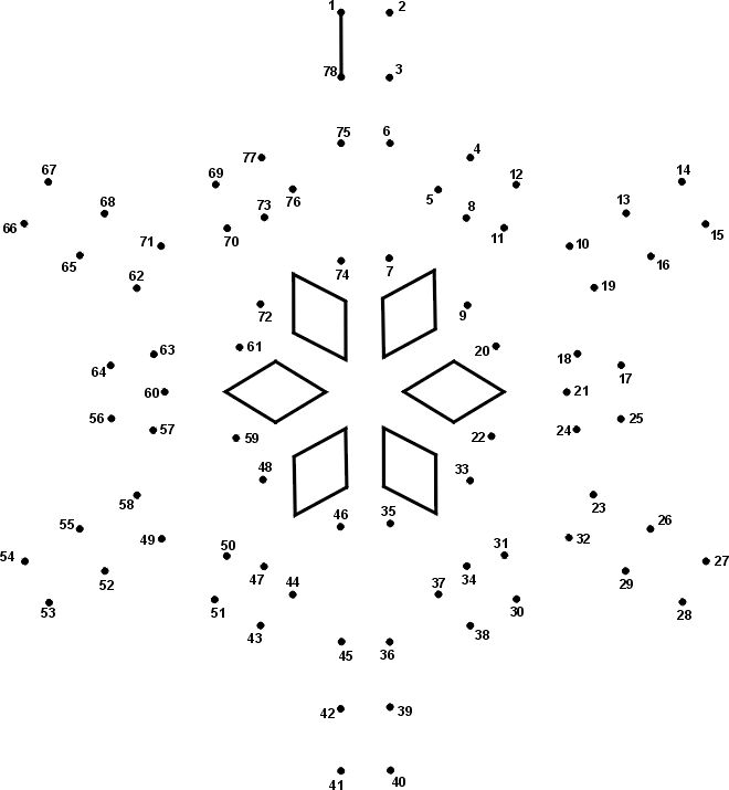 Dot-to-Dots Winter Activity Page: Snowflake