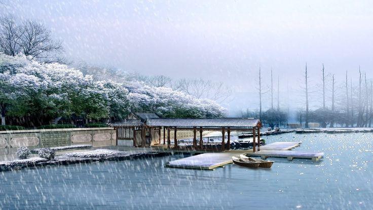 Winter / Ansicht vom See