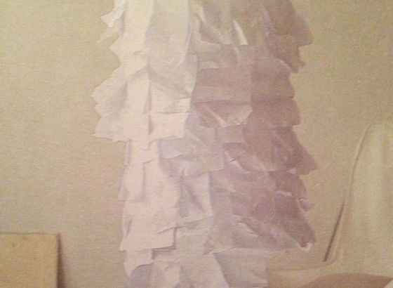 Lamp with a paper dress Made in Bettina Nagel