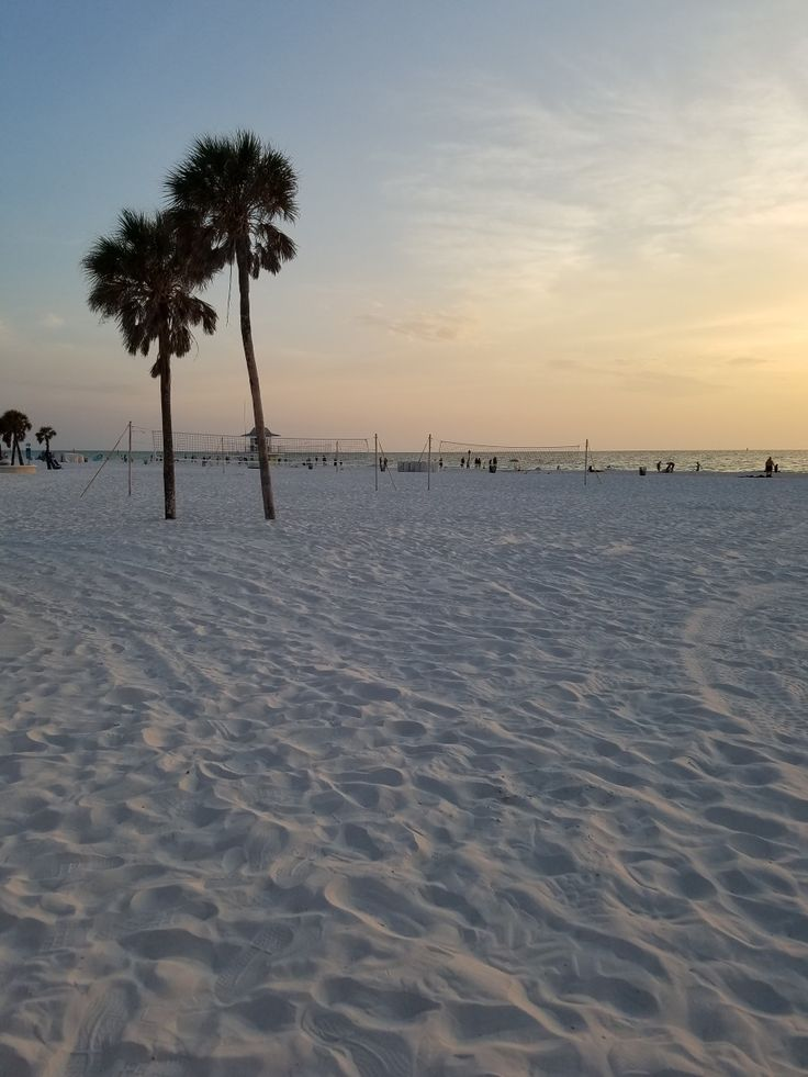 Pink hues of sunset on Clearwater Beach